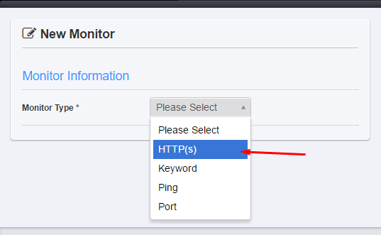 HTTP Monitor Type